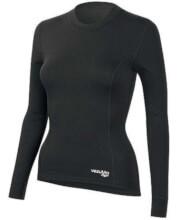 Koszulka damska z długim rękawem medium Q-Skin czarna