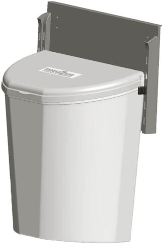Kosz na śmieci Pillar XL szary Brunner
