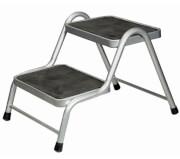 Podwójny schodek metalowy King Double Step firmy Brunner do 150kg szary