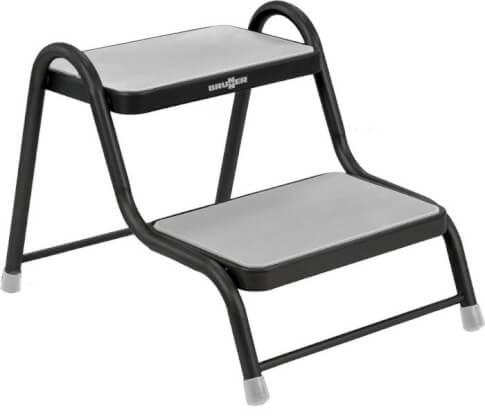 Podwójny schodek metalowy King Double Step firmy Brunner do 150kg czarny