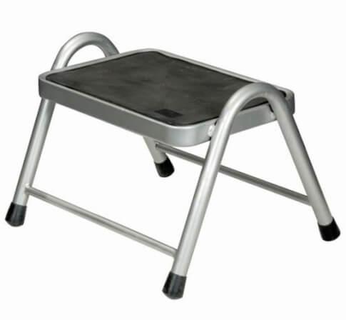 Pojedynczy schodek metalowy King Step marki Brunner do 150kg szaro czarny
