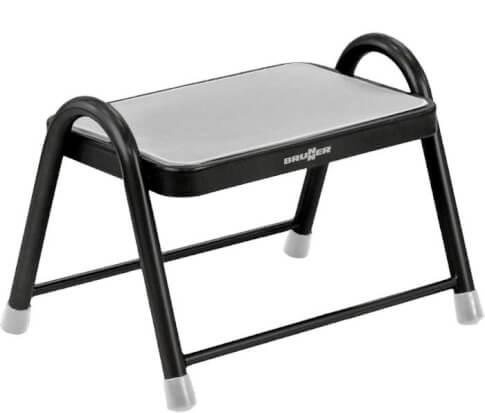 Pojedynczy schodek metalowy King Step marki Brunner do 150kg czarno szary