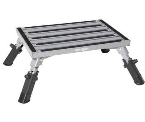Stopień aluminiowy Go Step R firmy Brunner do 140kg srebrno czarny