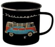 Turystyczny kubek emaliowany 500 ml kamper VW Collection czarny