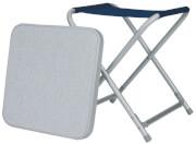 Składany stołek turystyczny z nakładanym blatem Toledo Euro Trail niebiesko szary