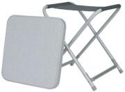Składany stołek turystyczny z nakładanym blatem Toledo Euro Trail szary