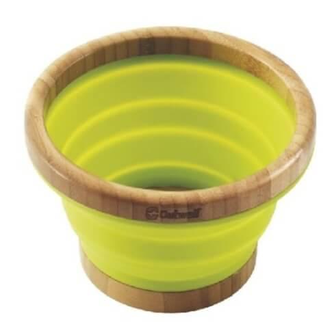 Składana miska z bambusa Collaps Bamboo Bowl M Outwell zielona