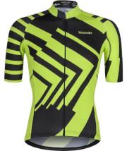 Męska koszulka kolarska Vezuvio Yellow Flash BCM Nowatex