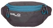 Obszerna saszetka biodrowa MEYO Milo szaro niebieska