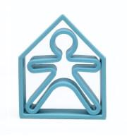 Zabawki dla dzieci Dena 3w1 ludzik i domek pastelowy niebieski