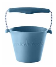 Składane wiaderko dla dzieci Scrunch Bucket Funkit World błękitne