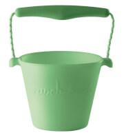 Składane wiaderko dla dzieci Scrunch Bucket firmy Funkit World pastelowy zielony