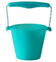 Składane wiaderko dla dzieci Scrunch Bucket Funkit World turkusowy