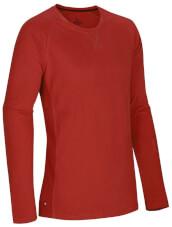 Lekka bawełniana bluza z długim rękawem Ocun Dio Long Sleeve Clay Red