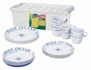 Zestaw obiadowy 16 częściowy Stack Box Blue Ocean Antislip Brunner
