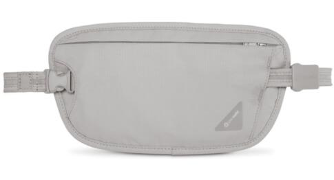 Dyskretny, antykradzieżowy portfel szary Coversafe X100 Pacsafe