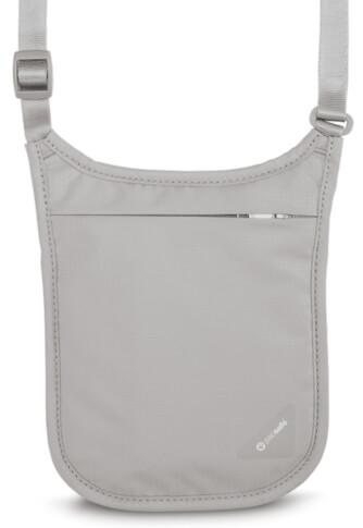 Dyskretny portfel na szyję szary Pacsafe Coversafe V75