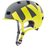 Kask rowerowy ze zdejmowanym daszkiem HLMT 5 pro Grey Lime Mat Szaro Limonkowy Uvex
