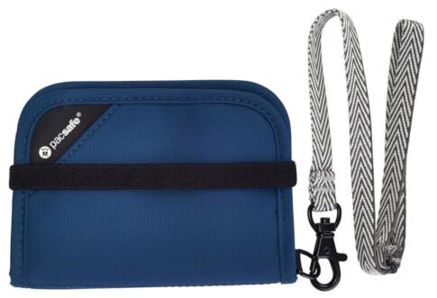 Portfel z ochroną przed kradzieżą Pacsafe RFIDsafe V50 Navy Blue