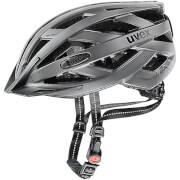 Kask rowerowy w zestawie z lampką LED City I-vo Dark Silver Mat Uvex