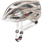 Kask rowerowy w zestawie z lampką LED City I-vo Champagne Mat Uvex