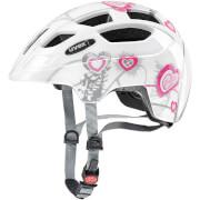 Kask rowerowy dla dzieci Finale Junior Heart White Pink Uvex