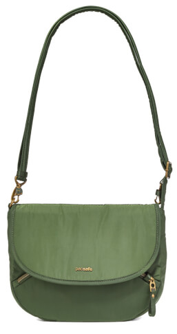 Mała torebka damska Pacsafe Stylesafe crossbody zielony