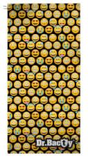 Ręcznik szybkoschnący z nadrukiem Emotikony Dr Bacty L