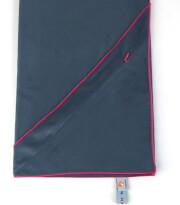 Ręcznik szybkoschnący z kieszonką M ciemnoszary różowy obwód Dr Bacty