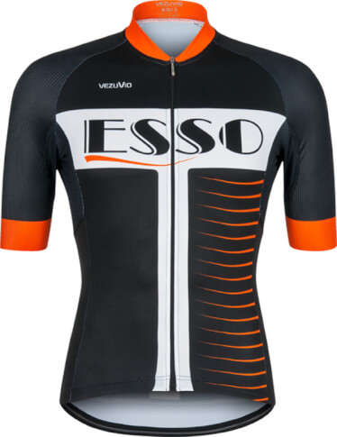 Koszulka rowerowa męska Schoeller VEZUVIO Esso Orange