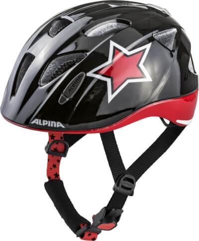 Kask rowerowy dla dzieci Ximo Flash Alpina Black Red White Star new 2019