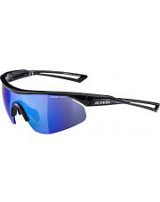 Okulary sportowe Nylos Shield Black Alpina szkło blue mirror Cat. 3 new 2019
