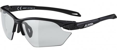 Okulary fotochromowe sportowe Twist Five HR S VL+ Black Matt Alpina szkło black mirror Cat. 1-3 Fogstop