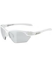 Okulary fotochromowe sportowe Twist Five HR S VL+ White Alpina szkło black mirror Cat. 1-3 Fogstop
