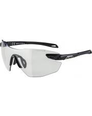Okulary fotochromowe sportowe Twist Five Shield RL VL+ Black Matt Alpina szkło black mirror Cat. 3