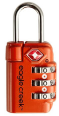 Eagle Creek Kłódka Travel Safe TSA Lock Orange