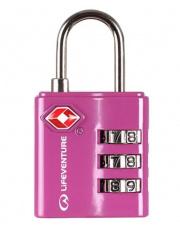 Kłódka do bagażu TSA Combi Lock różowa Lifeventure