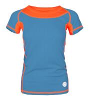 Damska koszulka TLELL LADY Milo ocean blue salmon orange