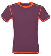 Męska koszulka TLELL Milo plum violet salmon orange
