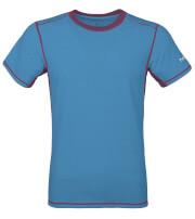 Męska koszulka TLELL Milo ocean blue plum violet