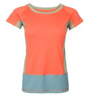 Damska koszulka VADI LADY Milo salmon orange blue spruce