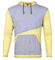 Bluza wspinaczkowa męska z kapturem ASKLEV Milo blue stripes yellow apple