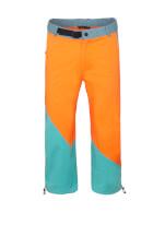 Spodnie wspinaczkowe męskie JULIAN 3/4 orange turquoise Milo