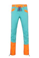 Spodnie wspinaczkowe damskie JULIAN LADY turquoise orange Milo