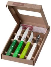 Zestaw noży kuchennych Essentials Primavera Box Set Opinel zielony