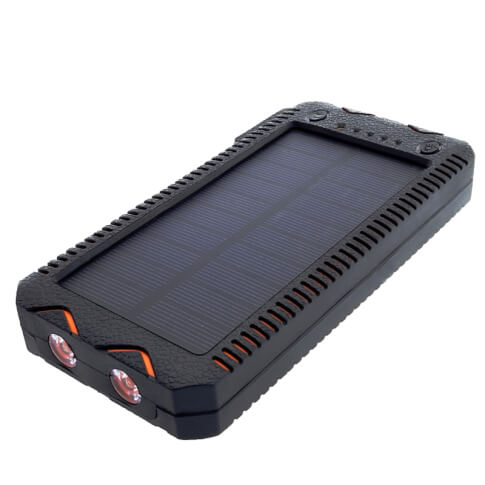 Power Bank 12000mAh z panelem solarnym USB 5V 1A 5V  2A PowerNeed