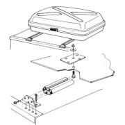 Uchwyty montażowe do bagażnika dachowego Top Box Mounting Rack Thule