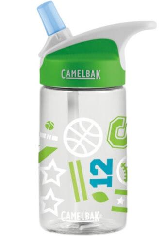 Butelka dziecięca CamelBak Eddy Kids 400ml zielona z motywem sportowym