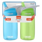Zestaw dwóch turystycznych butelek dziecięcych Eddy Kids 400ml CamelBak zielona i niebieska