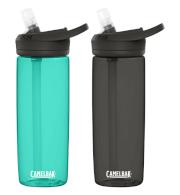 Zestaw dwóch butelek turystycznych Eddy + 600 ml Camelbak błękitna i czarna